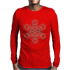 Psytrance Mandala kabbalah Sacred geometry Tree of life Mens Long Sleeve T-Shirt