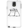 pug and rabbit Phone Case