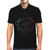 Pug art Mens Polo