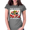 Pug Dog Christmas Womens Fitted T-Shirt