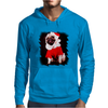 Pug Dressed As Santa Christmas Mens Hoodie
