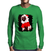 Pug Dressed As Santa Christmas Mens Long Sleeve T-Shirt