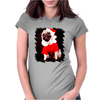 Pug Dressed As Santa Christmas Womens Fitted T-Shirt