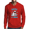 Pugs Not Drugs Mens Hoodie