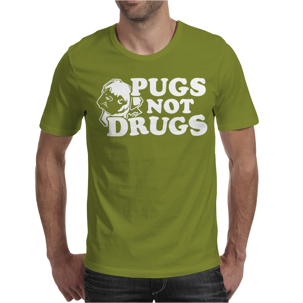 Pugs Not Drugs Mens T-Shirt