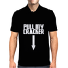 Pull My Cracker Funny Xmas Christmas Mens Polo