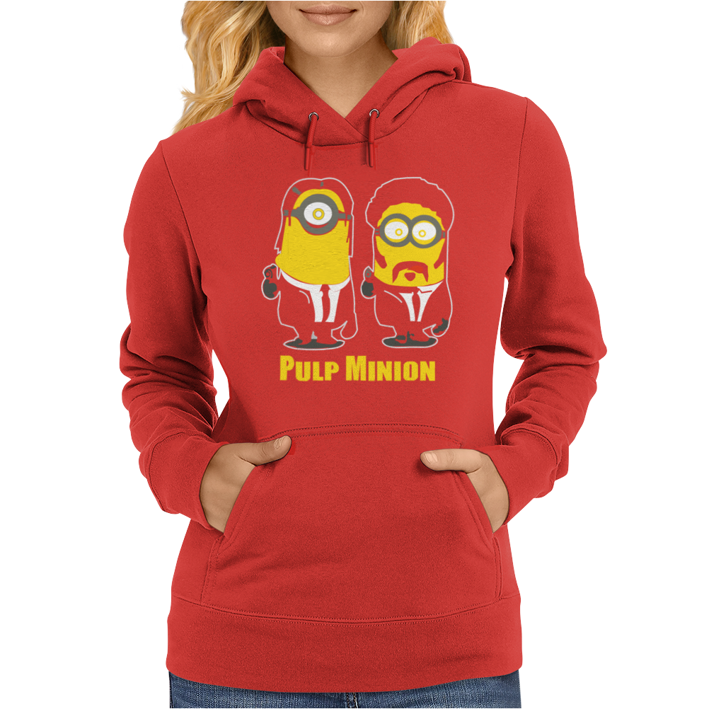 Pulp Minion Pulp Fiction Parody Despicable Me Womens Hoodie