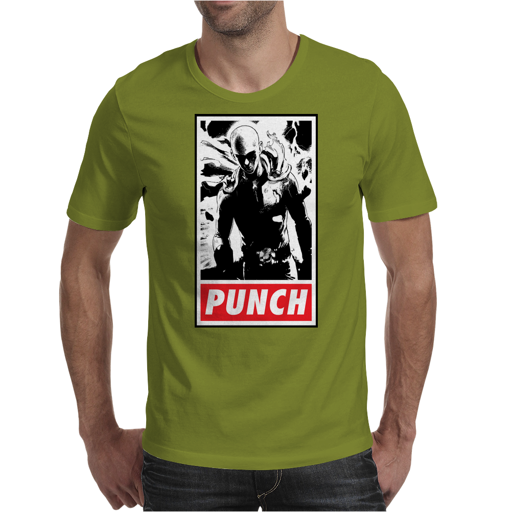 Punch - obey parody Mens T-Shirt