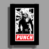 Punch - obey parody Poster Print (Portrait)