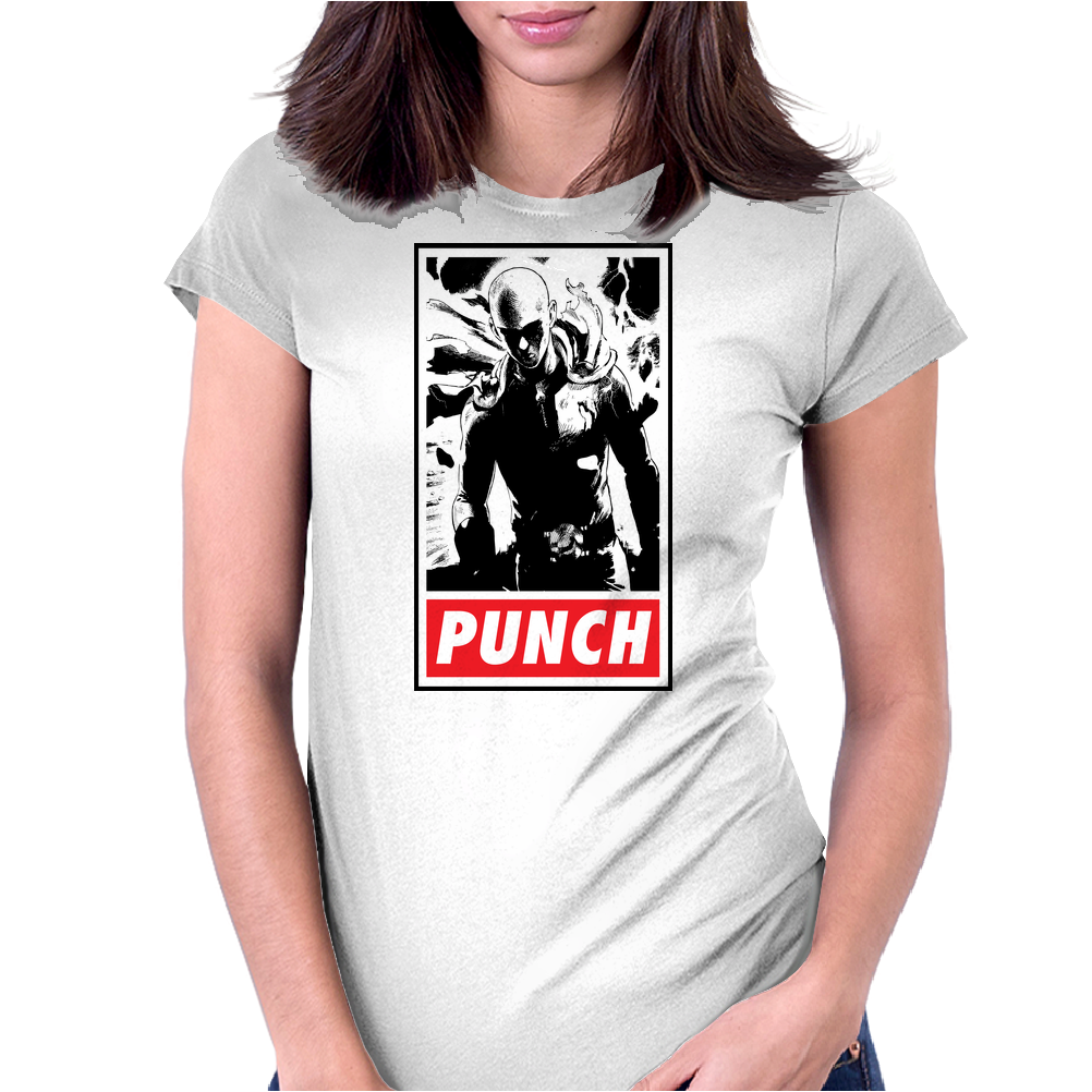 Punch - obey parody Womens Fitted T-Shirt