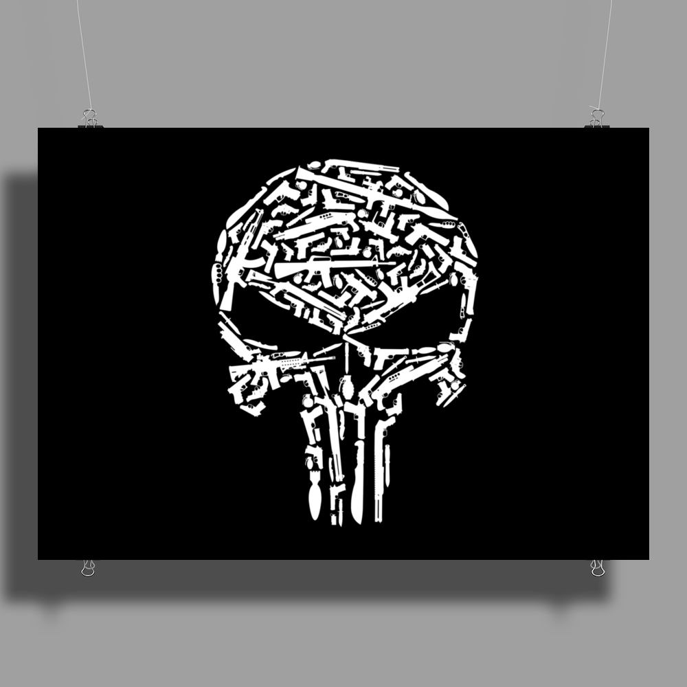 Punisher Arsenal White Poster Print (Landscape)
