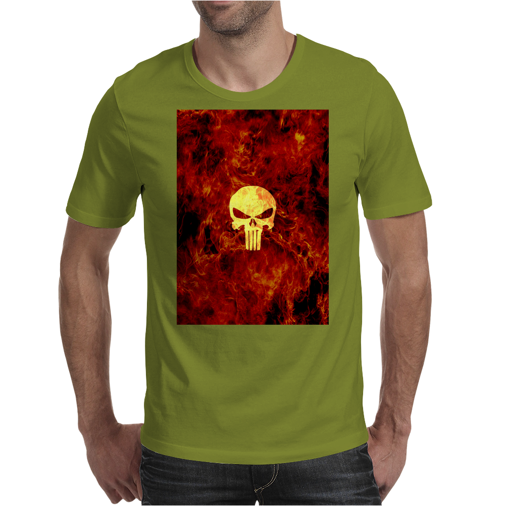Punisher Flame Mens T-Shirt