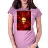 Punisher Flame Womens Fitted T-Shirt