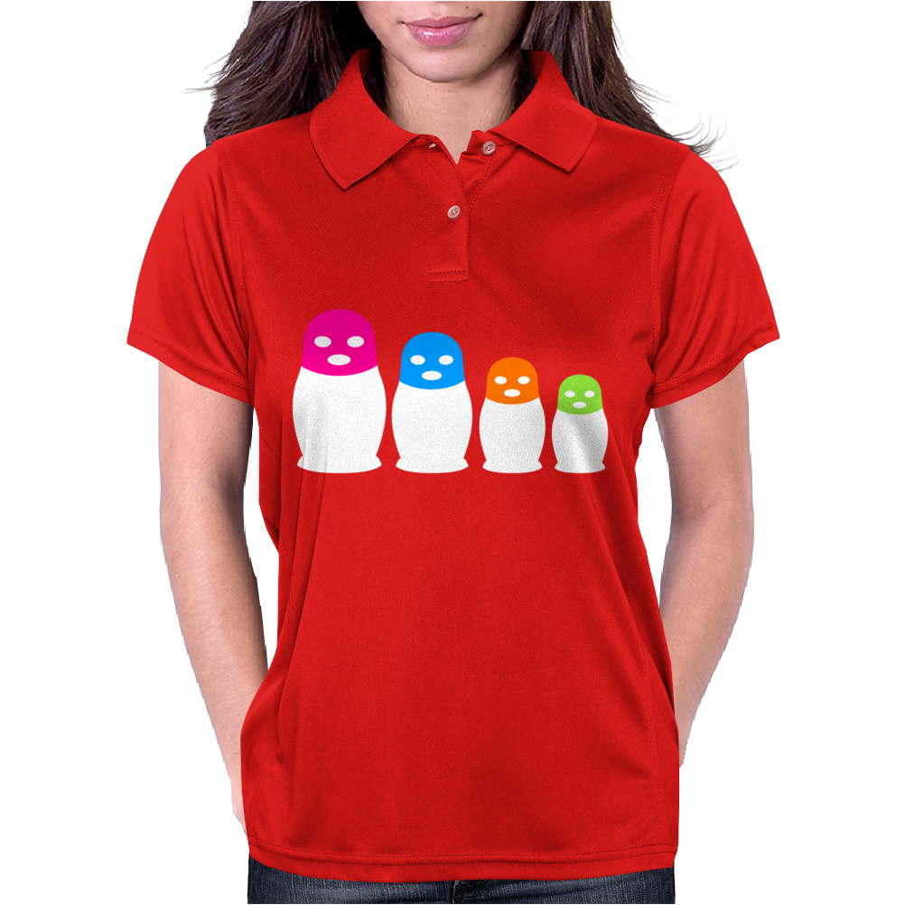 Punk Band Russian Nesting Doll Pussy Womens Polo