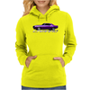 Purple Camaro Z 28 Muscle Car 1967-68-69 Womens Hoodie