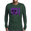 Purple Ford Escort MK1 Classic Car Mens Long Sleeve T-Shirt