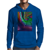 Purple Green Rainbow Dented Pillow Fractal Mens Hoodie