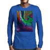 Purple Green Rainbow Dented Pillow Fractal Mens Long Sleeve T-Shirt
