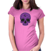 Purple Hellion Skull Womens Fitted T-Shirt