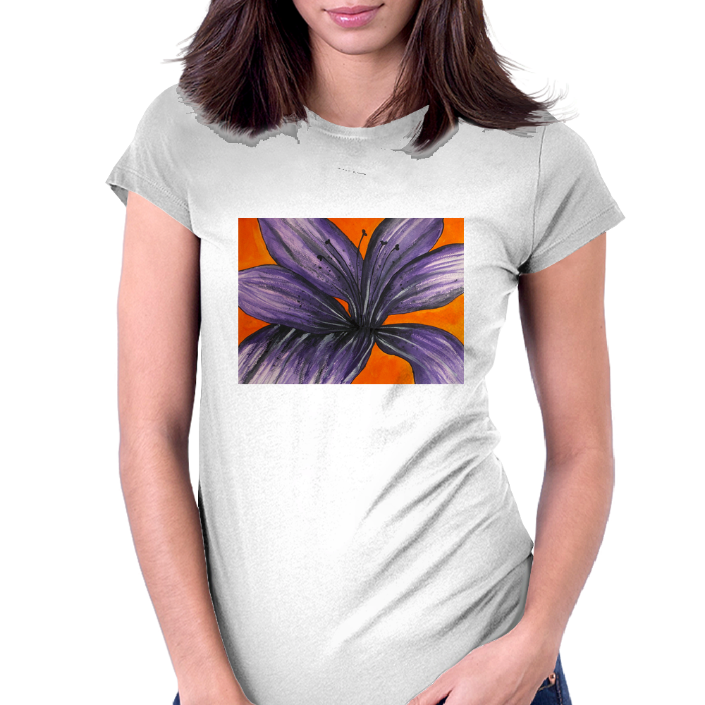 Purple Lily Womens Fitted T-Shirt