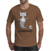 Purrmaid Funny Kitty Cat Mermaid Mens T-Shirt