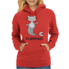 Purrmaid Funny Kitty Cat Mermaid Womens Hoodie