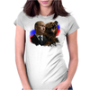 Putin And Bear Womens Fitted T-Shirt