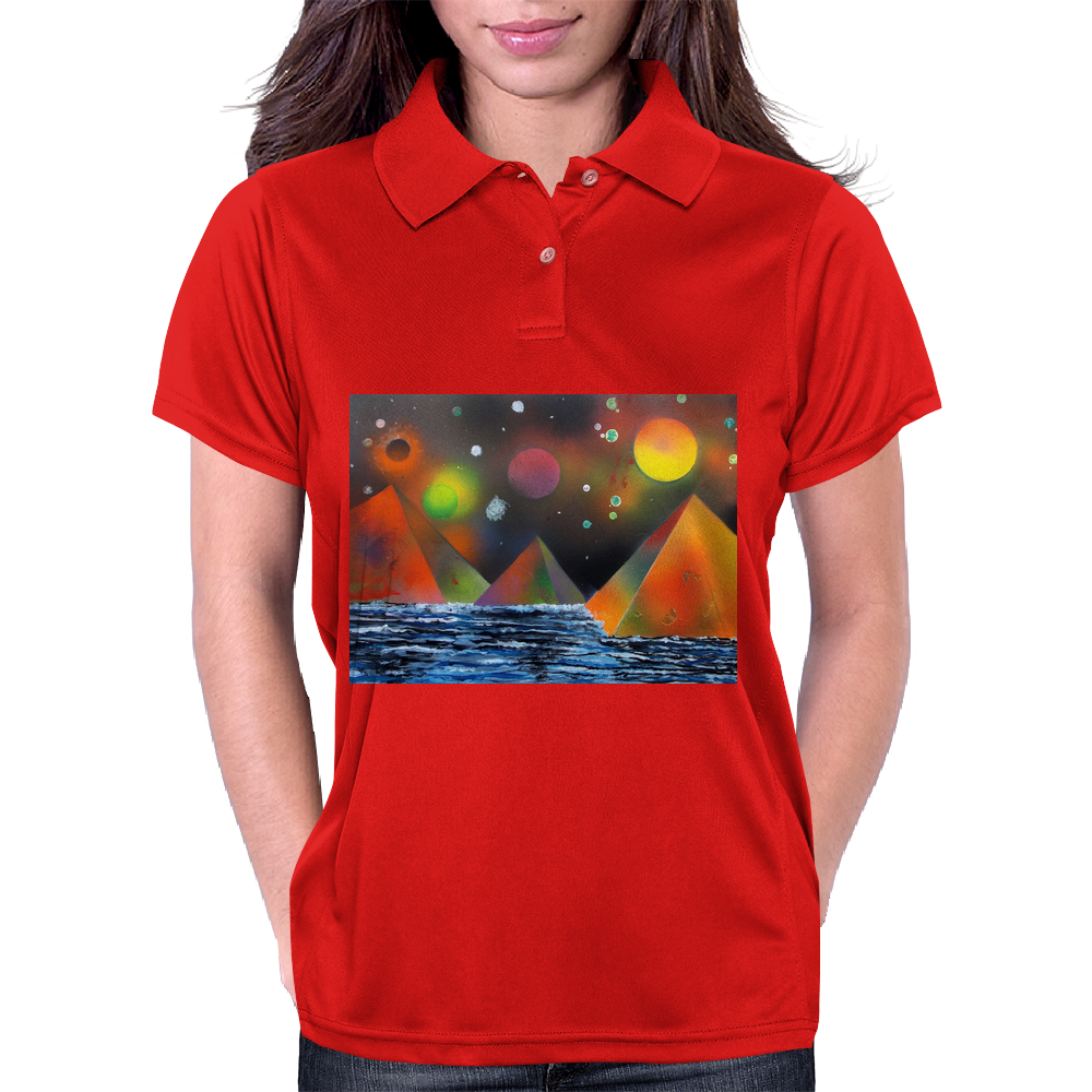 Pyramids by the River Womens Polo