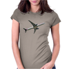 Qatar Airways Boeing 777 in Flight Womens Fitted T-Shirt