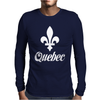 Quebec Canada Mens Long Sleeve T-Shirt