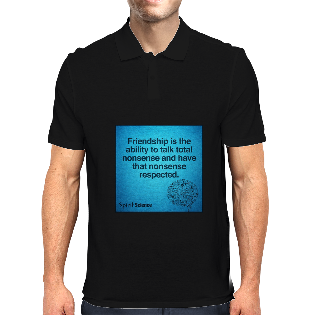 quotes tshirts, wall arts,posters,mobile cases,lapetop cases Mens Polo