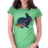 rabbit 3d Womens Fitted T-Shirt
