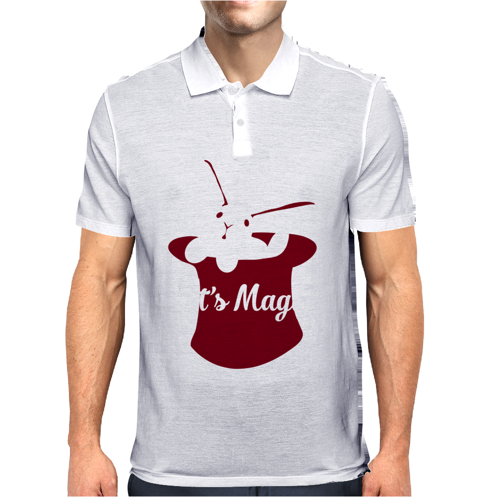 Rabbit In Hat Magic Mens Polo