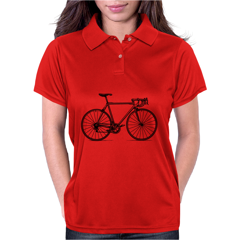 racing bicycle t-shirt art, racing bike wall art, phone case art Womens Polo