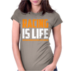 Racing Is Life Steve Mcqueen Womens Fitted T-Shirt