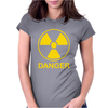 Radiation Symbol Womens Fitted T-Shirt