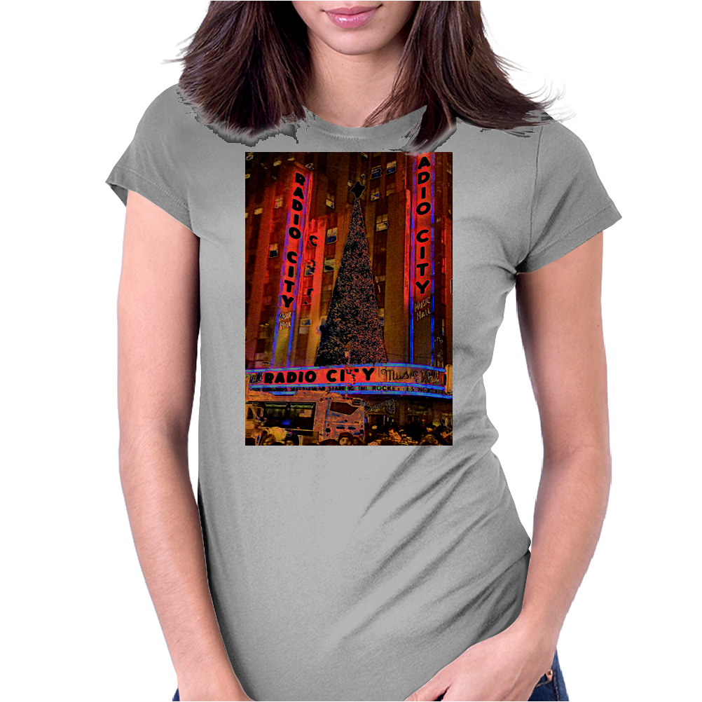 Radio City Music Hall, NYC, NY Womens Fitted T-Shirt