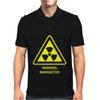 Radioactive Laboratory Hazard Warning Symbol Mens Polo