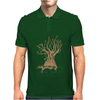 Radiohead Tree Charcoal Grey Mens Polo