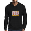 Radishes and yellow background Mens Hoodie