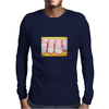 Radishes and yellow background Mens Long Sleeve T-Shirt