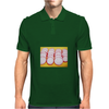 Radishes and yellow background Mens Polo
