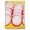 Radishes and yellow background Tablet