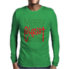 Raglan Merry Christmas Mens Long Sleeve T-Shirt