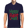 Raglan Merry Christmas Mens Polo
