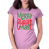 Raglan Merry Christmas Womens Fitted T-Shirt