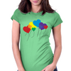 Rainbow balloons Womens Fitted T-Shirt