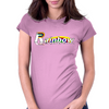 Rainbow Behind Womens Fitted T-Shirt