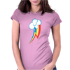 Rainbow Dash Cutie Womens Fitted T-Shirt