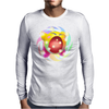 Rainbow Kirby Mens Long Sleeve T-Shirt